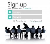 Sign Up Register Online Internet Web Concept