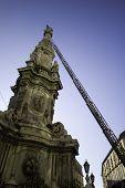 stock photo of obelisk  - Christmas Obelisk in Piazza del Ges - JPG