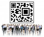 QR Code Identity Marketing Concept