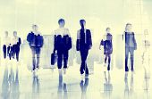 pic of commutator  - Business People Colleagues Walking Commuting Concept - JPG