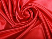 Smooth Elegant Red Silk As Background