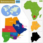 Administrative division of the Federal Republic of Botswana