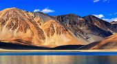 Mountains , Pangong Tso (lake),leh,ladakh,jammu And Kashmir,india