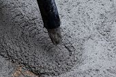 image of street-rod  - Pouring cement during sidewalk upgrade at the street - JPG