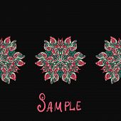 Ethnic paisley ornament. Abstract background with mandala element