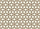 Brown Abstract Star And Arrow Shape Seamless Pattern
