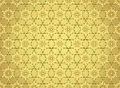 Gold Abstract Star And Arrow Shape Seamless Pattern