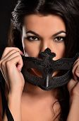 Temptation model in the fashionable mask