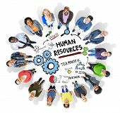 Human Resources Employment Job Teamwork People Diversity Concept