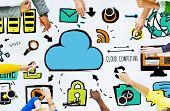 Diversity People Cloud Computing Brainstorming Meeting Concept