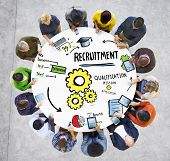 image of recruiting  - Ethnicity Business People Communication DIscussion Recruitment Concept - JPG