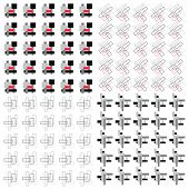 Set Of Geometric  Pattern.