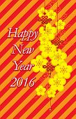 Chinese New Year - Greeting card design  -  Vector Illustration