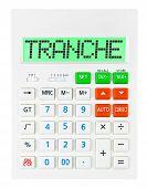 Calculator With Tranche
