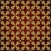 Gold Abstract Rectangle And Arrow And Circle Shape Seamless Pattern