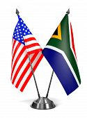 USA and South Africa - Miniature Flags.