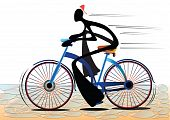 shadow man bicycle
