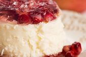 pic of panna  - coconut panna cotta dessert with fresh pomegranate - JPG