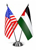 USA and Palestine - Miniature Flags.