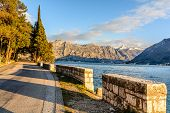 Promenade In The City Of Perast, Montenegro
