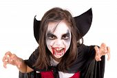 Girl In Halloween Vampire Costume