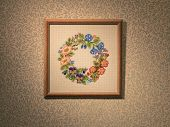 Embroidery framed picture