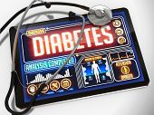 Diabetes on the Display of Medical Tablet.