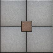 Gray and Brown Paved Squere. Seamless Texture.