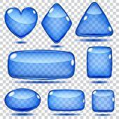 Set Of Transparent Glass Shapes