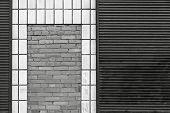 Monochrome Abstract Facade Of The Building