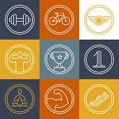 Vector Crossfit And Fitness Logos And Emblems
