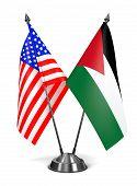 USA and Jordan - Miniature Flags.