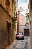 Citroen Car Parked On The Narrow Street In Tarragona