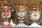 stock photo of blessed  - Holy chalices used for christian blessing ceremonies - JPG