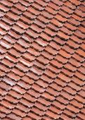 Orange Old Tile Rooftop Pattern