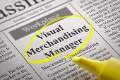 Visual Merchandising Manager Vacancy in Newspaper.