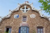 foto of gaudi barcelona  - Barcelona Park Guell Gingerbread House of Gaudi modernism - JPG