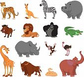 foto of venomous animals  - Vector illustration set of funny exotic animals - JPG