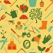 Gardening background. Seamless Pattern.