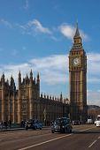 London Taxi And Big Ben