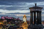 image of castle  - Edinburgh castle and Cityscape at night - JPG