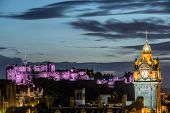 picture of castle  - Edinburgh castle and Cityscape at night - JPG