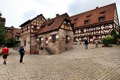 NURNBERG, GERMANY - JULY 13 2014. Houses in Imperial Castle Nuremberg in Germany