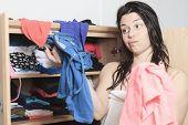 Choose clothes woman