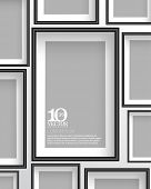 eps10 vector rectangular empty space photo frame background design