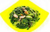 Vegetarian Kale Thai Food