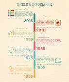 Retro Timeline Infographic Vector Design Template