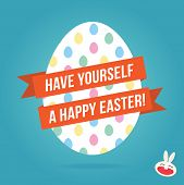 Vector Illustration Of Happy Easter Egg Greetings Card