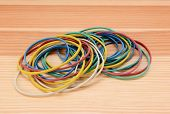 Large Pile Of Coloured Rubber Bands