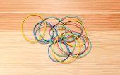 Handful Of Coloured Elastic Bands